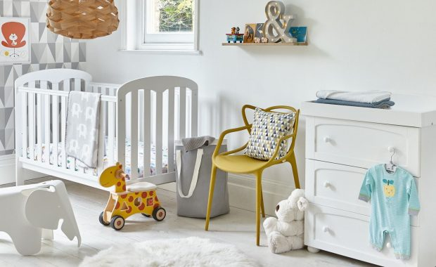 White-painted nursery furniture