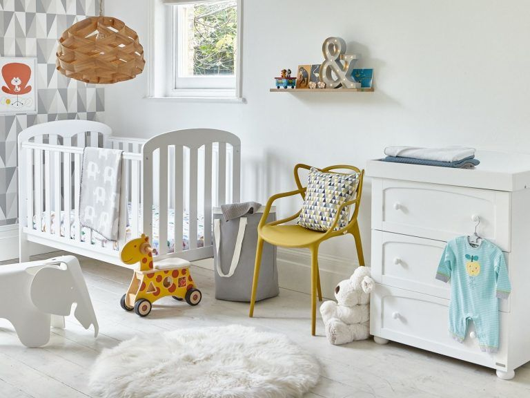 White-painted nursery furniture