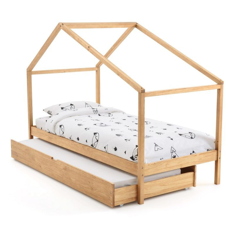 Child's house style bed with trundle