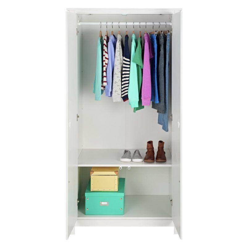 Wardrobe hanging rail and shelf