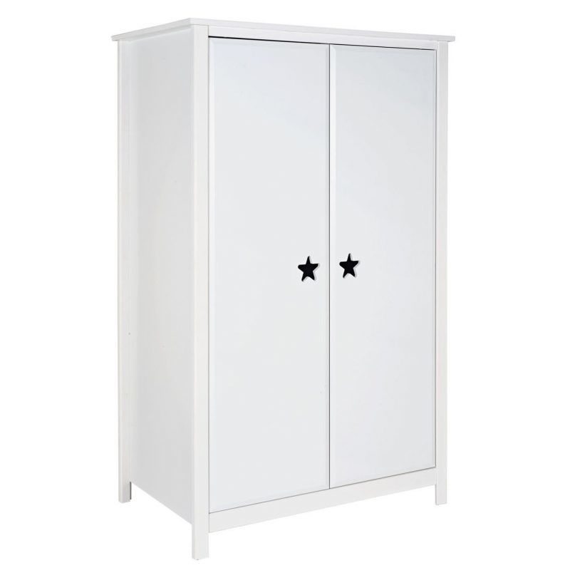 White wardrobe with star cut-out handles