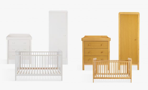 Nursery furniture sets in white and pine