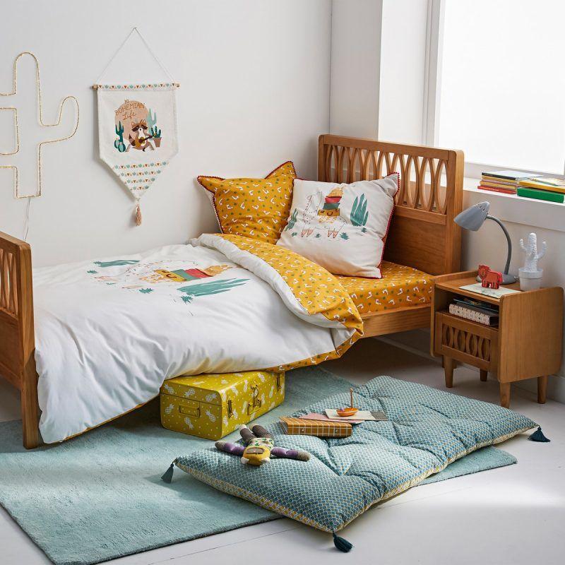 Vintage-style children's bed and bedside cabinet
