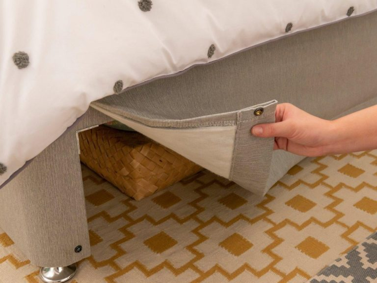 Divan bed with covered storage base