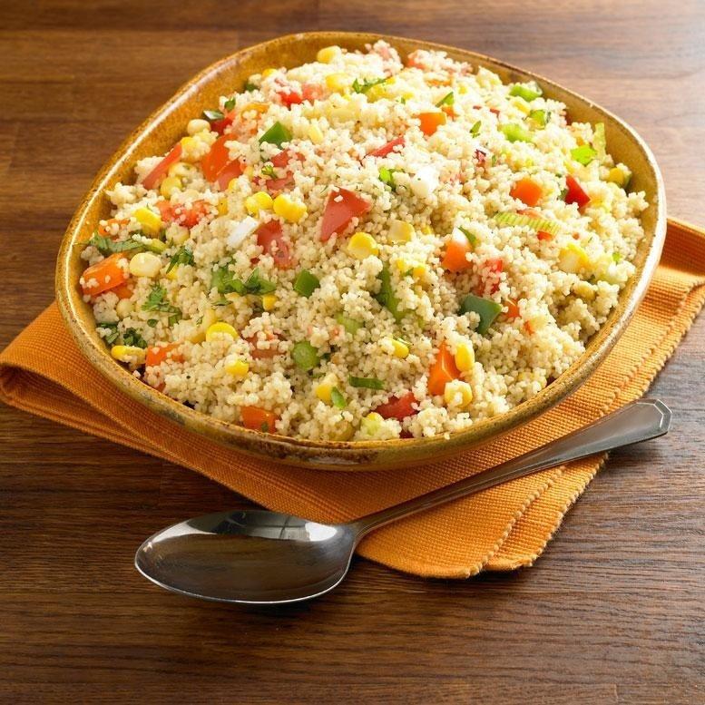 Colourful couscous recipe