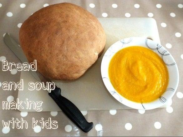 Brad and soup