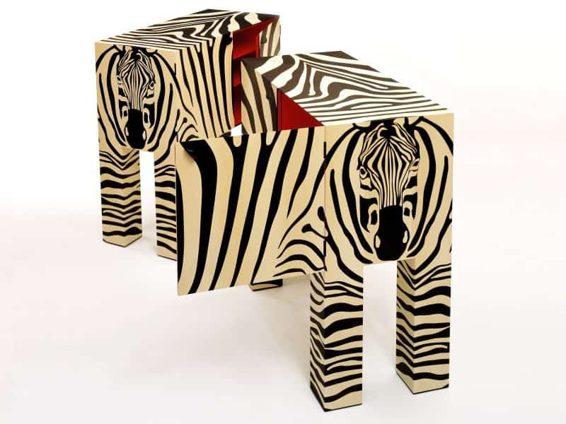 Zebra design cabinets