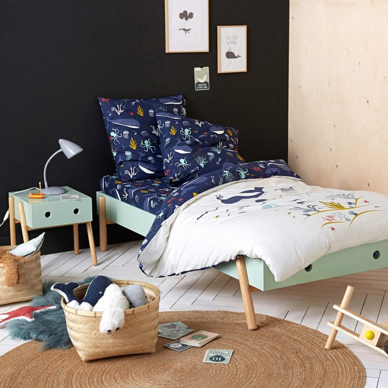 Funky green-painted children's furniture