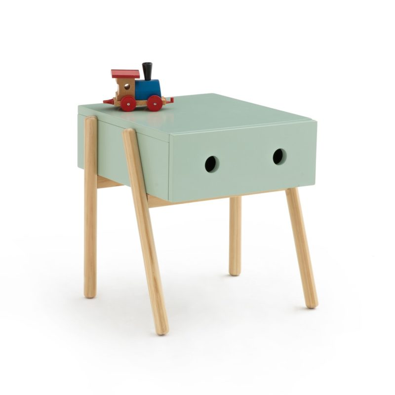 Funky Scandi-style bedside cabinet painted green