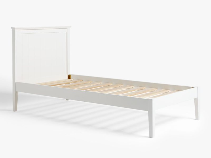 White-painted bed frame