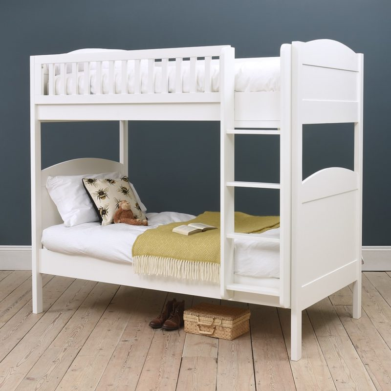 White-painted bunk bed