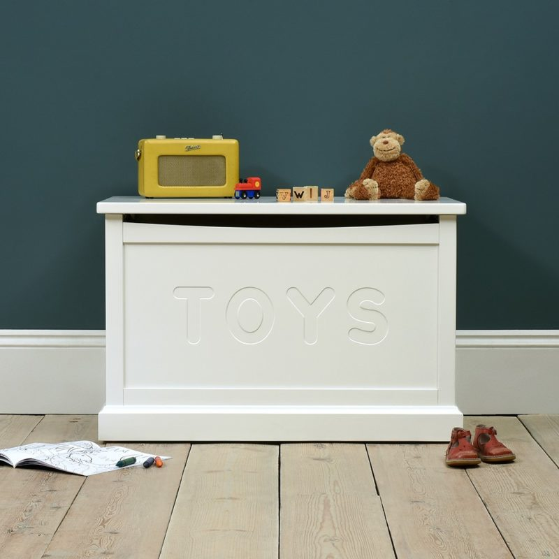 White-painted toy chest