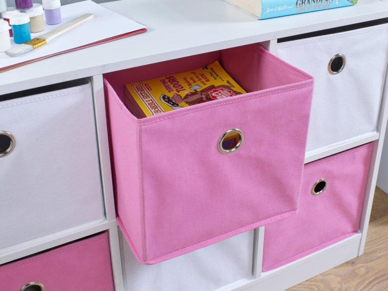 Pink canvas drawer