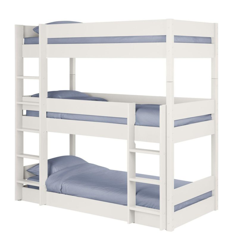 White-painted triple bunk