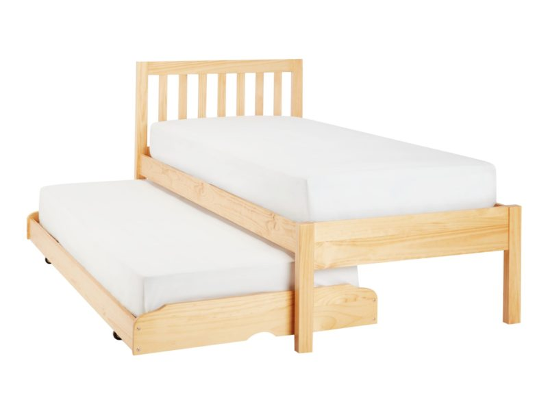 Pine single bed with trundle guest bed