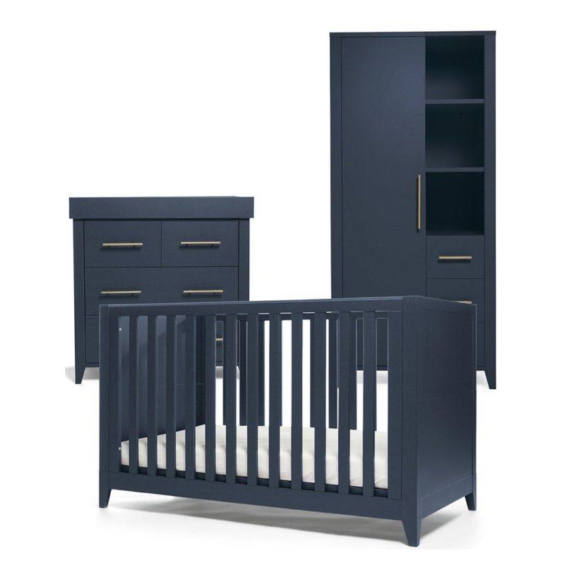 Cot bed , dresser and storage wardrobe