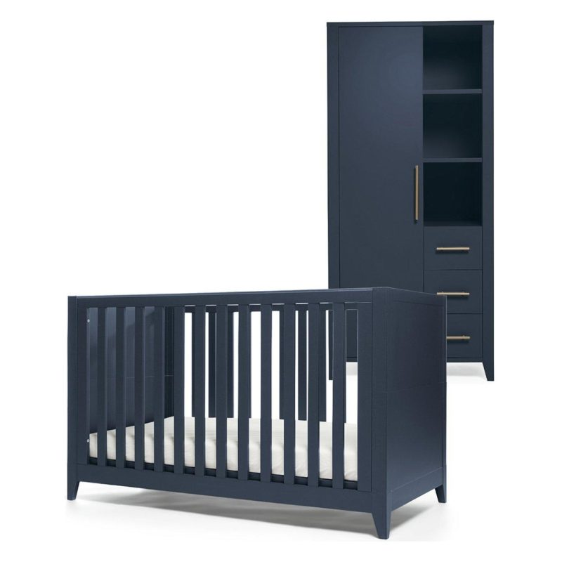 Cot bed and single wardrobe