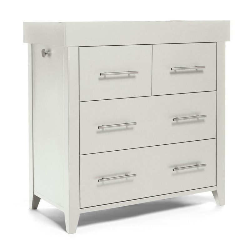 Grey baby changer dresser