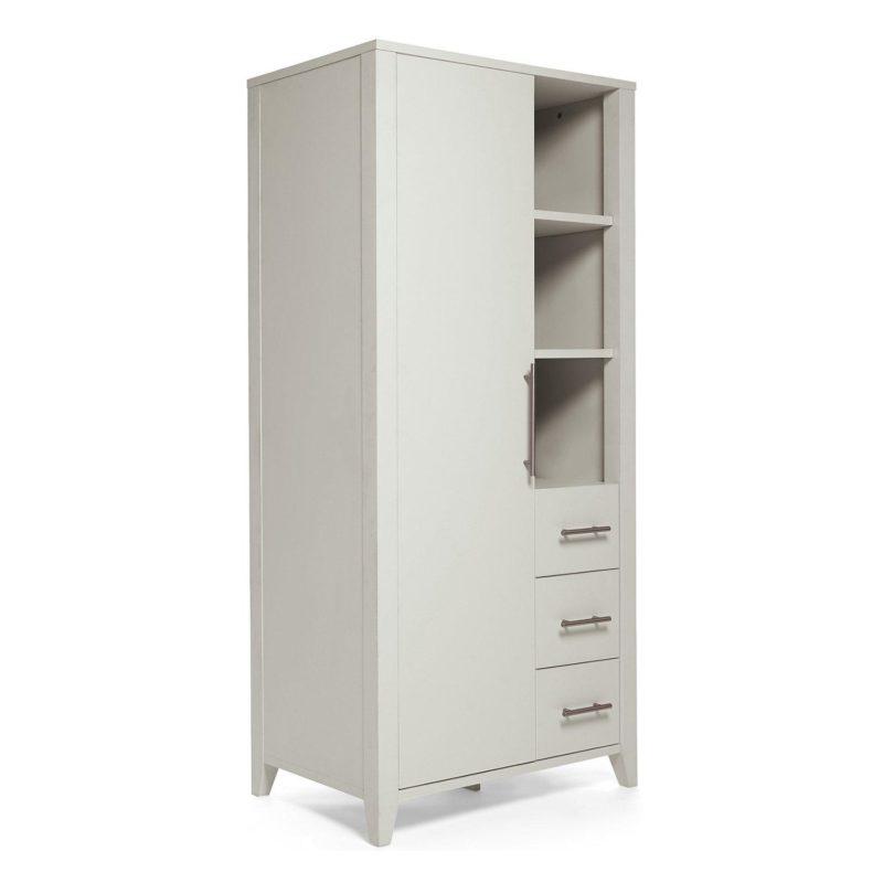 Grey-painted storage wardrobe
