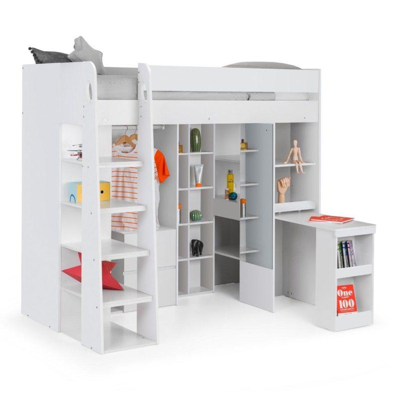White storage high sleeper