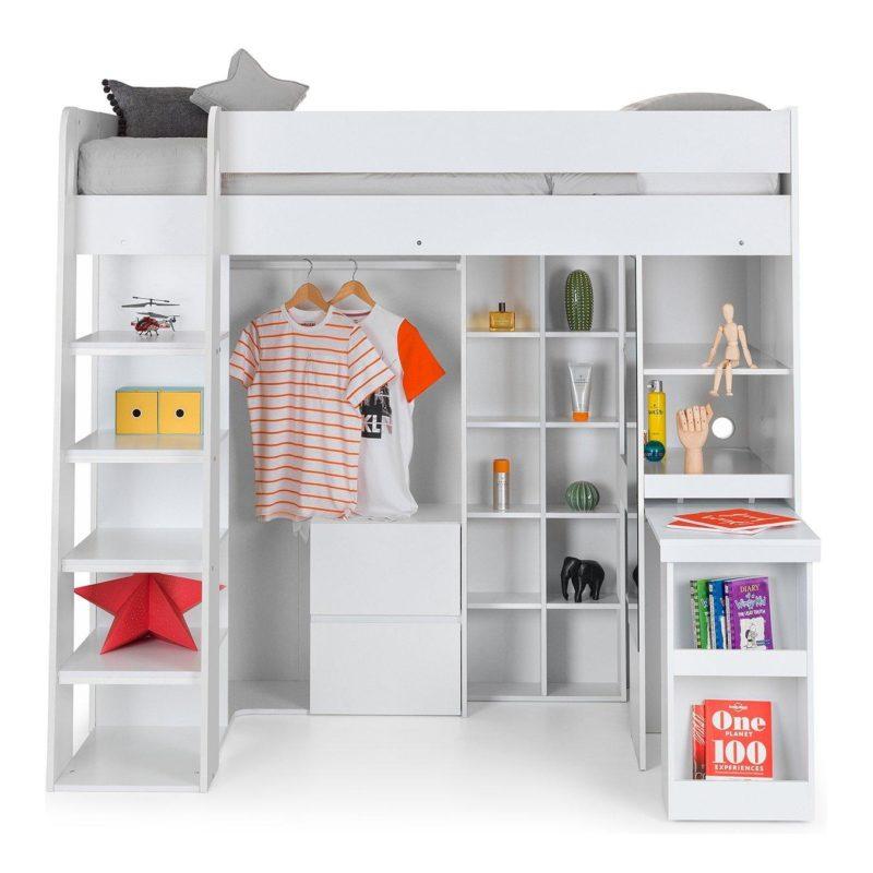 White high sleeper with storage