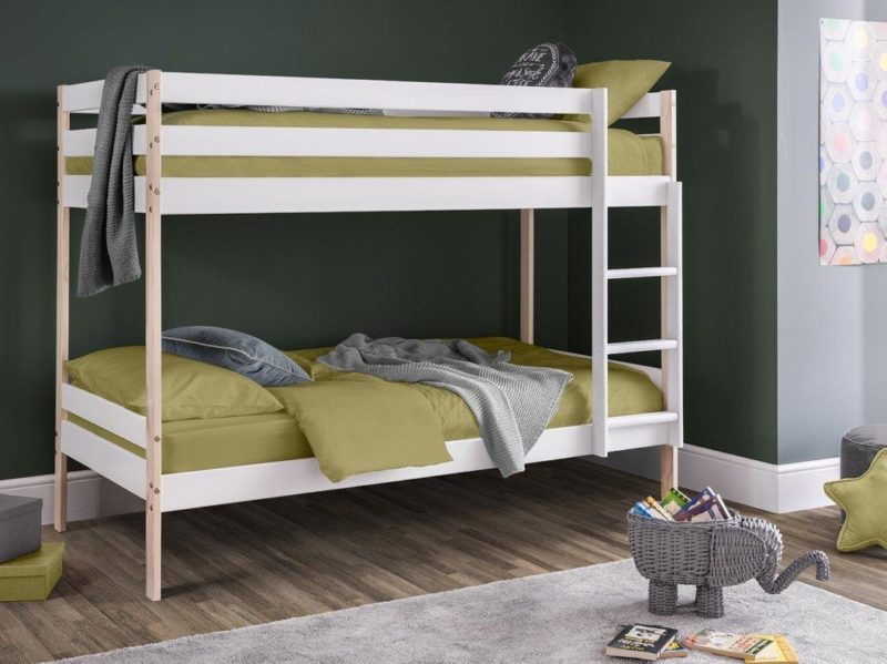 Bunk bed with white and natural finish