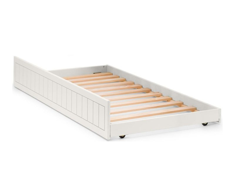 White-painted underbed truckle