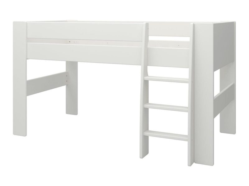 White-painted midsleeper bed frame