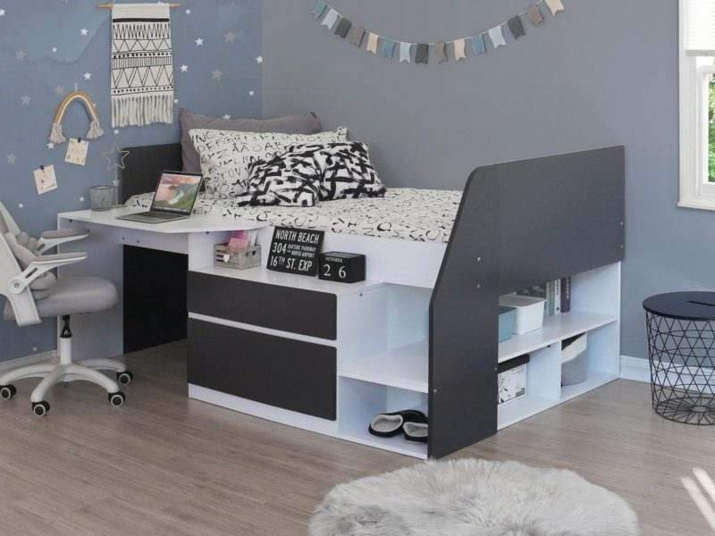 Modern cabin bed with storage