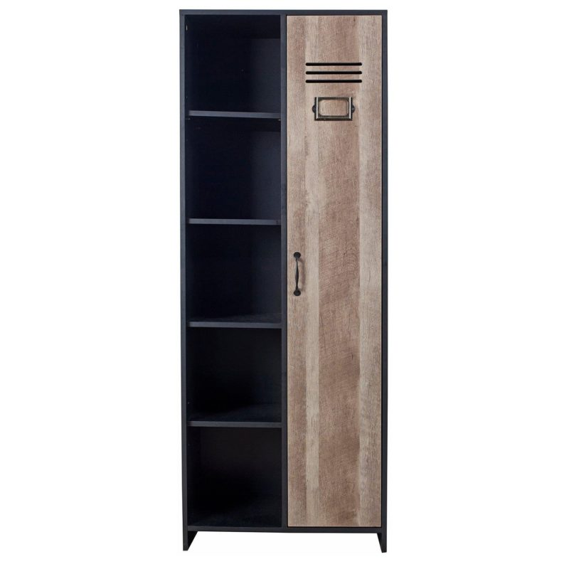 Kid's wooden locker style wardrobe