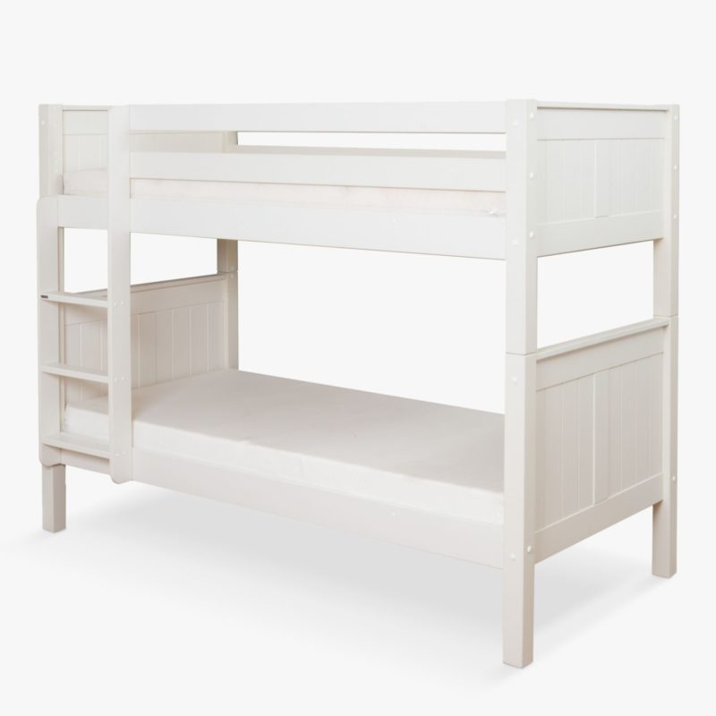 Child's white painted bunk bed