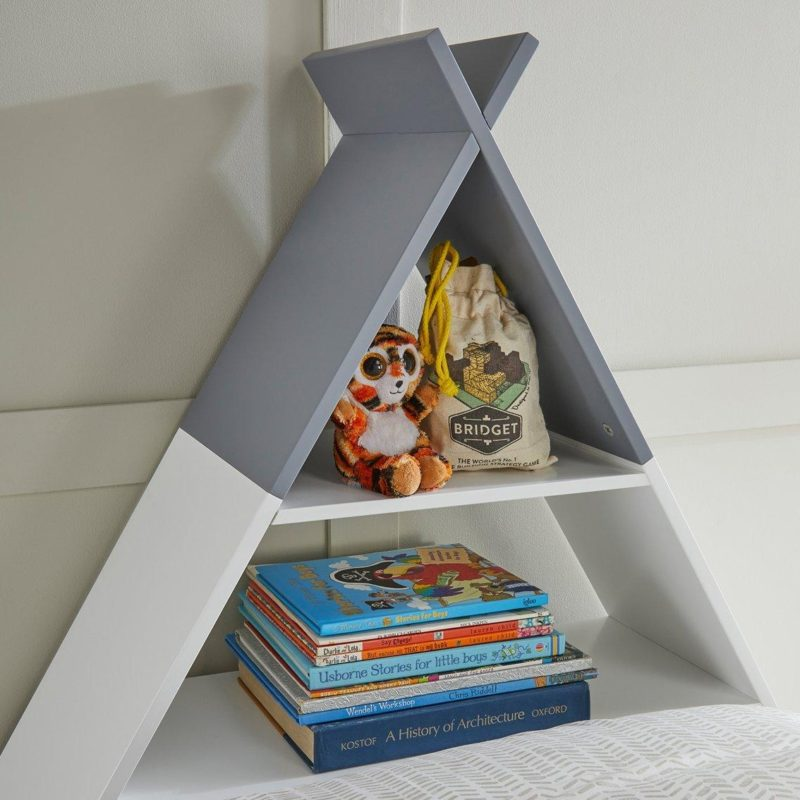 Teepee headboard shelf