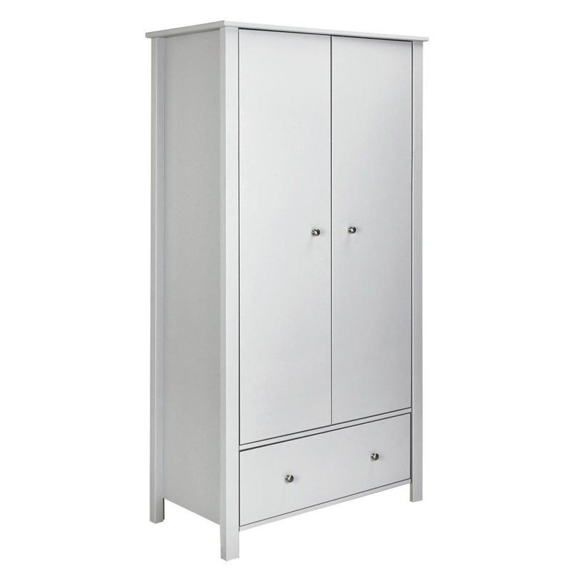 Children's grey 2-door wardrobe