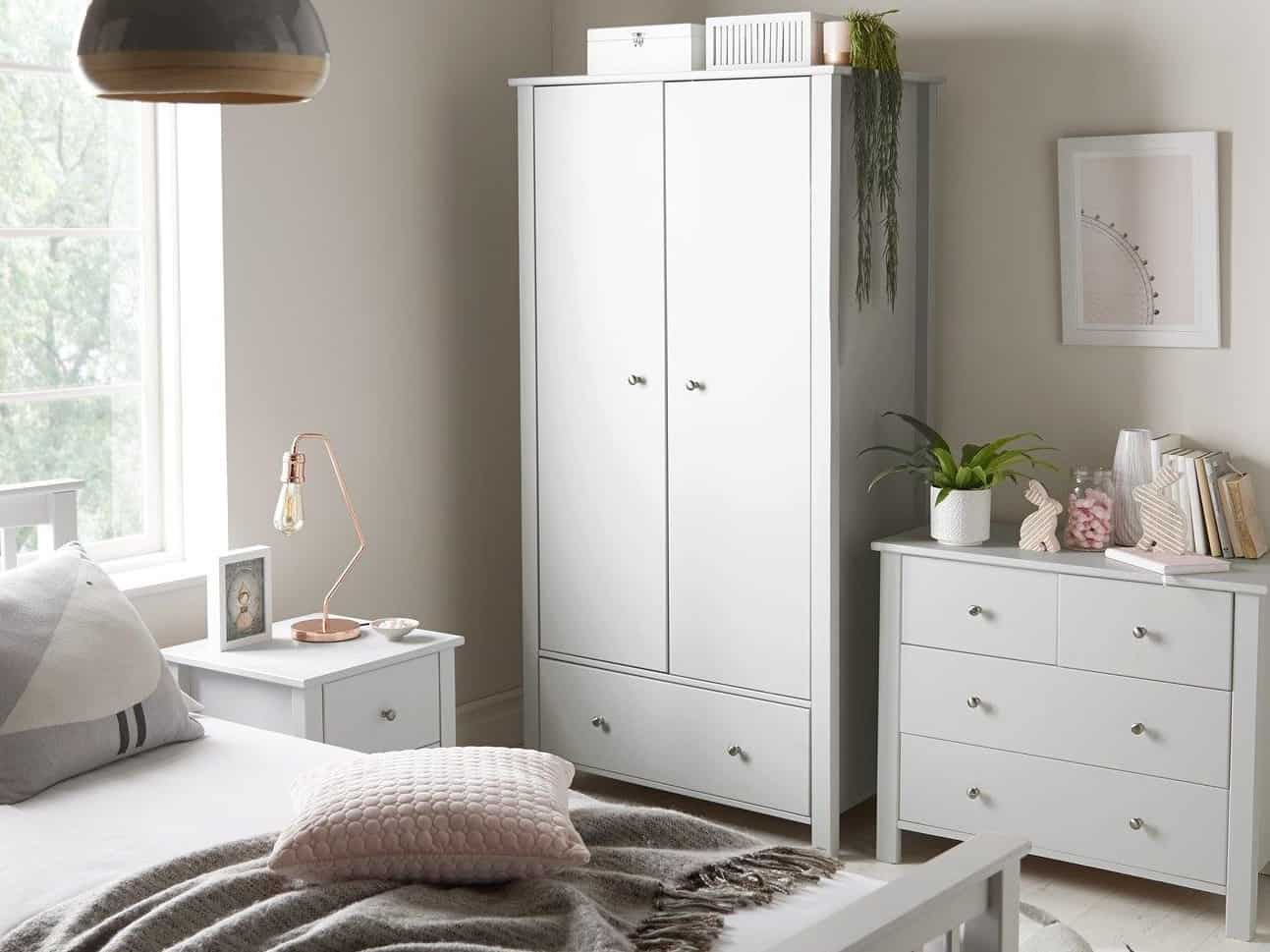 Novara contemporary grey bedroom furniture
