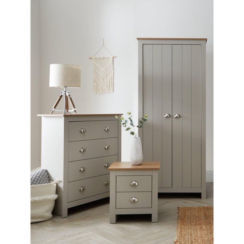 Grey-painted 3-piece bedroom furniture package