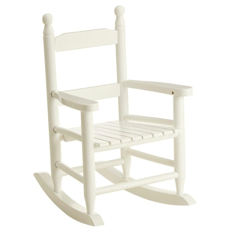 White-painted rocking chair