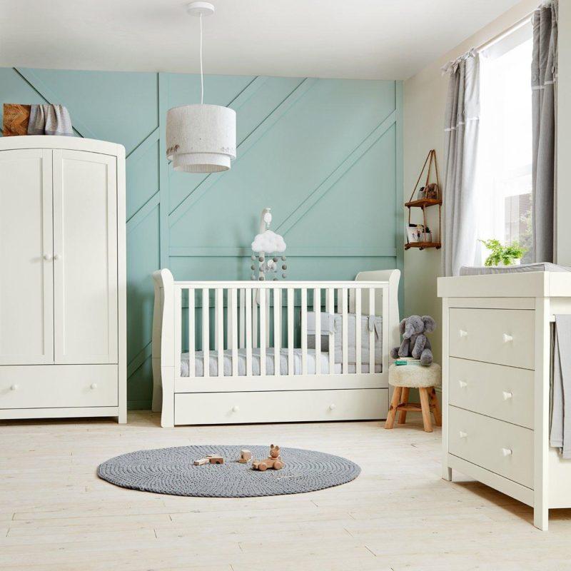 White painted nursery furniture