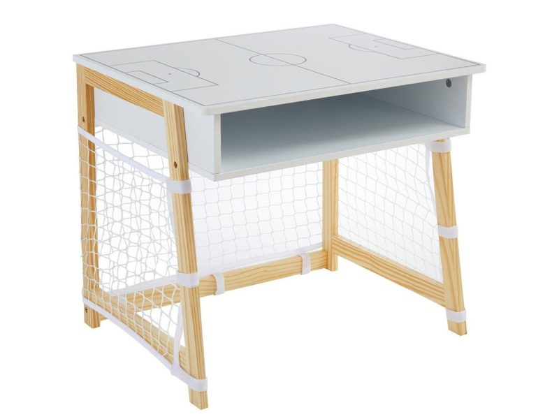 Kid's white desk with football pitch top