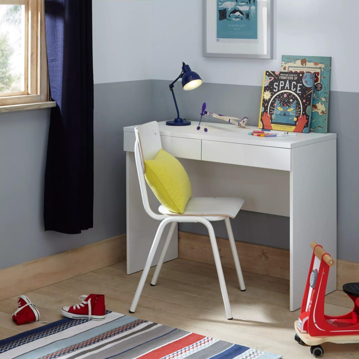 White, 2drawer desk