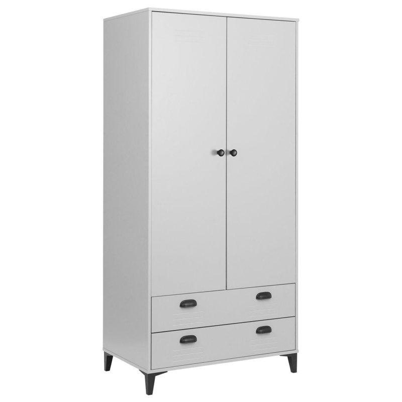 Locker-themed wardrobe with drawers