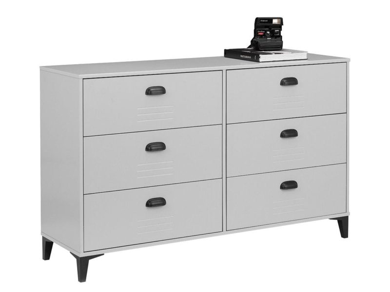 3 plus 3 locker-themed chest of drawers
