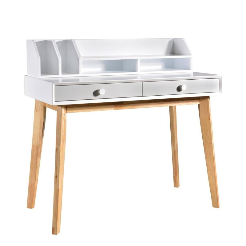 white/grey desk