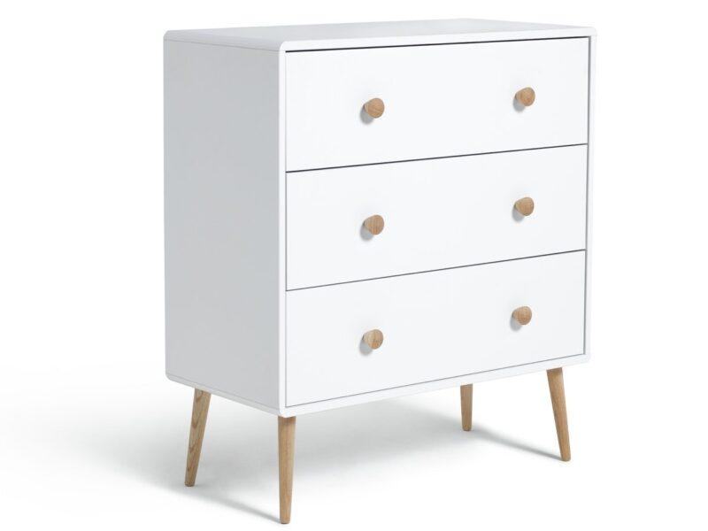 White 3-drawer chest