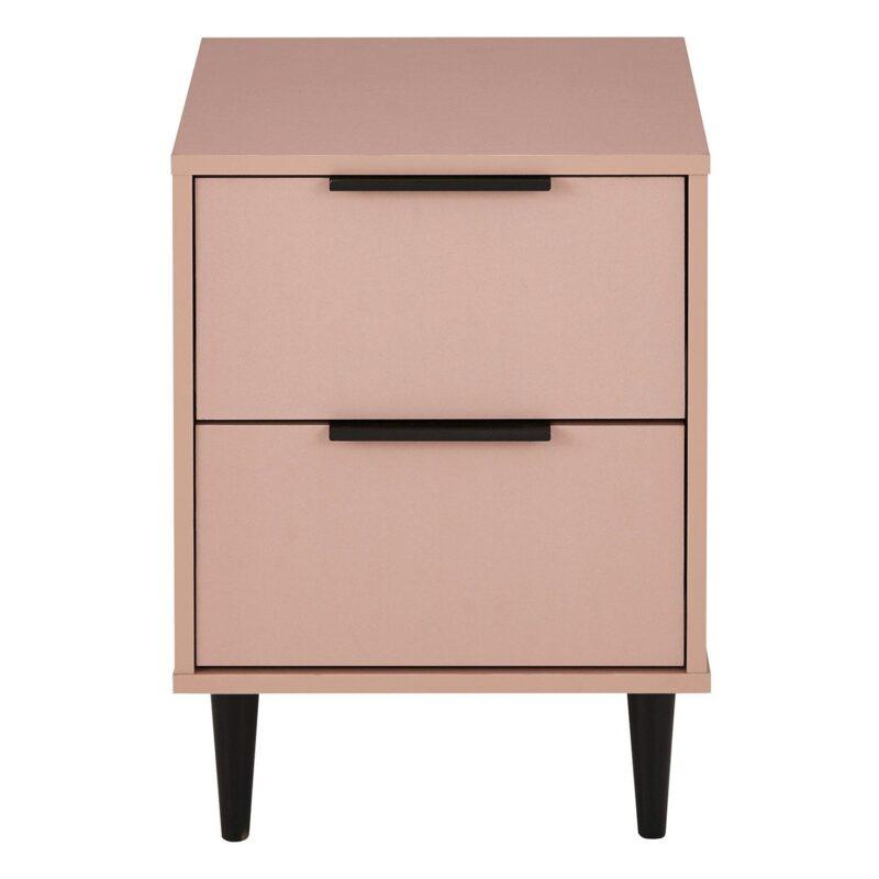 Pink 2 drawer bedside chest