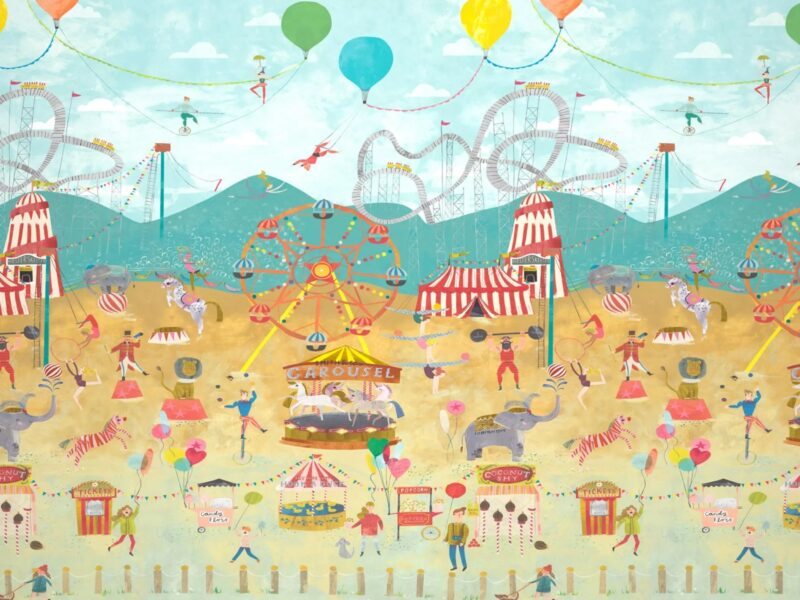 Circus themed wall apnel