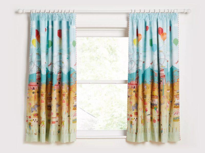 Circus themed curtains