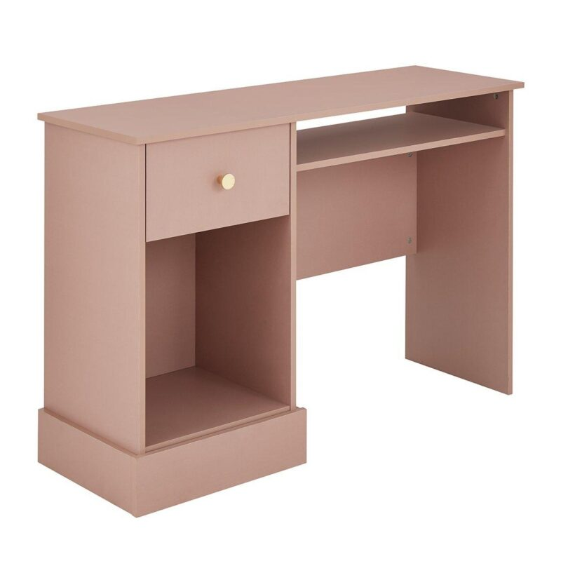 Pink desk with drawer