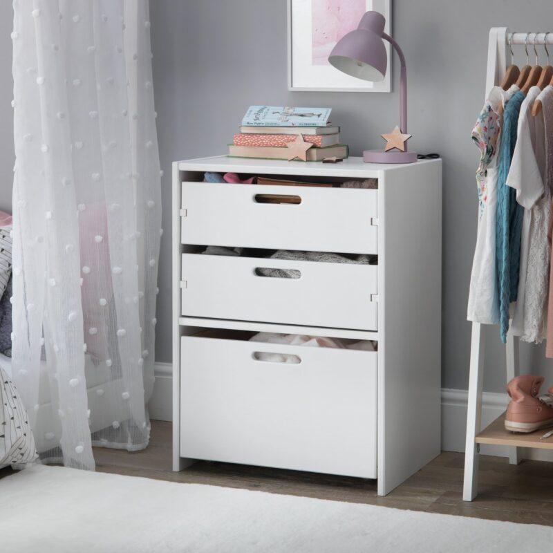 3-drawer storage unit