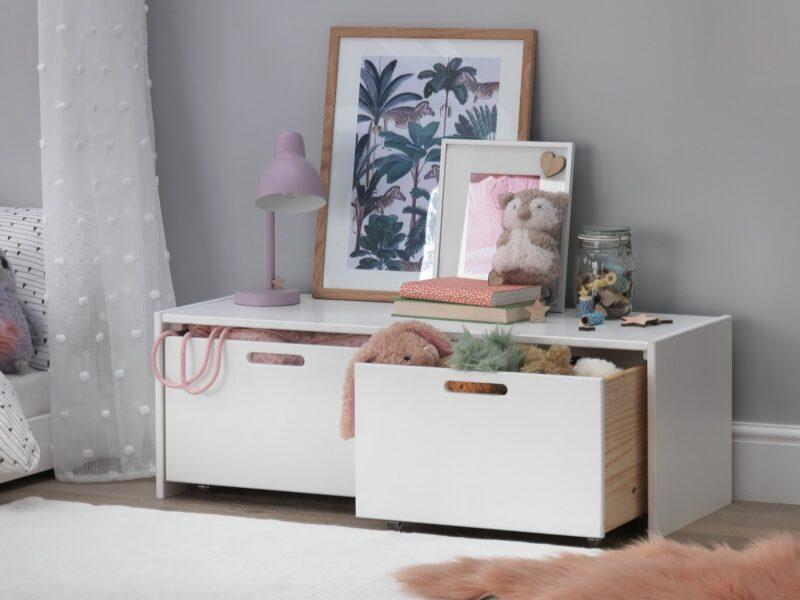 White 2-drawer storage unit
