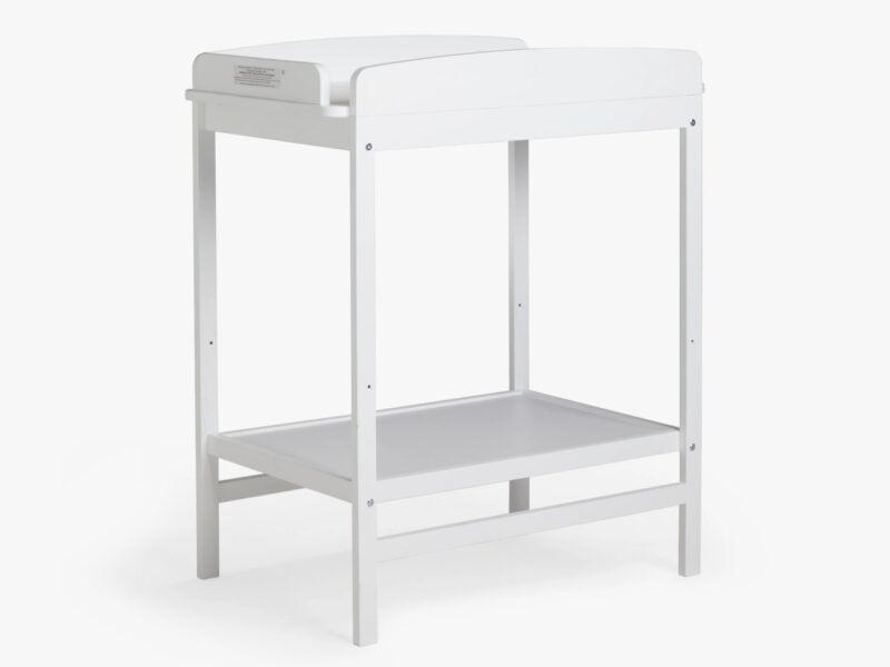 White painted changer table